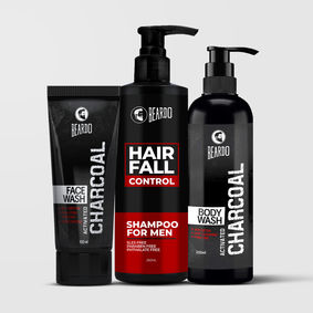 Beardo Bath and Body Combo for Men (Charcoal)
