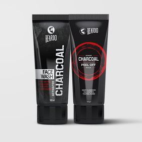 Beardo Activated Charcoal Facewash & Peel Off Mask Combo
