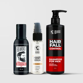Beardo Hair fall control kit (Shampoo, Serum & Growth oil)