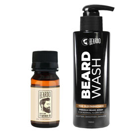 Beardo The Old Fashioned Beard Oil (30ml) & Beard Wash Combo (100ml)