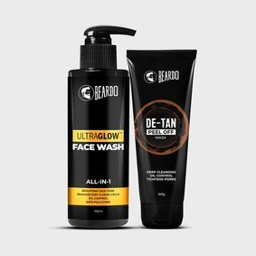 Beardo Ultraglow Facewash & De-Tan Peel Off Mask Combo