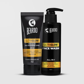 Beardo Ultraglow Lotion & Ultraglow Facewash Combo