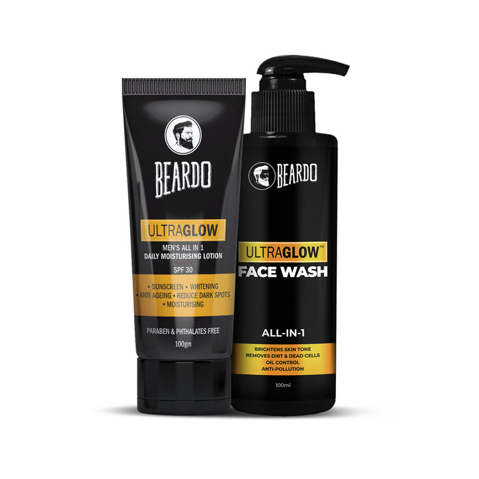 COMBO OFFER | Beardo Ultraglow Lotion & Ultraglow Facewash Combo at Rs.300