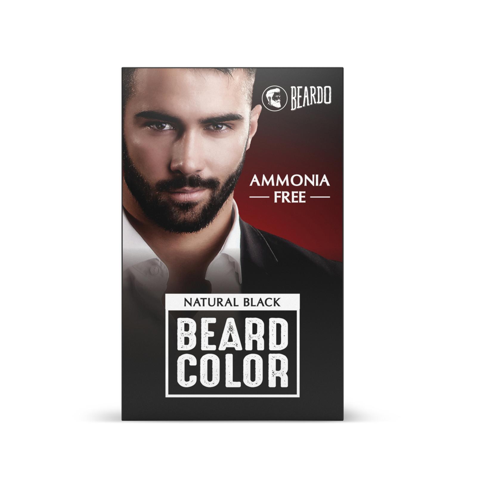 Beardo Beard Color for Men - Natural Black (60ml)