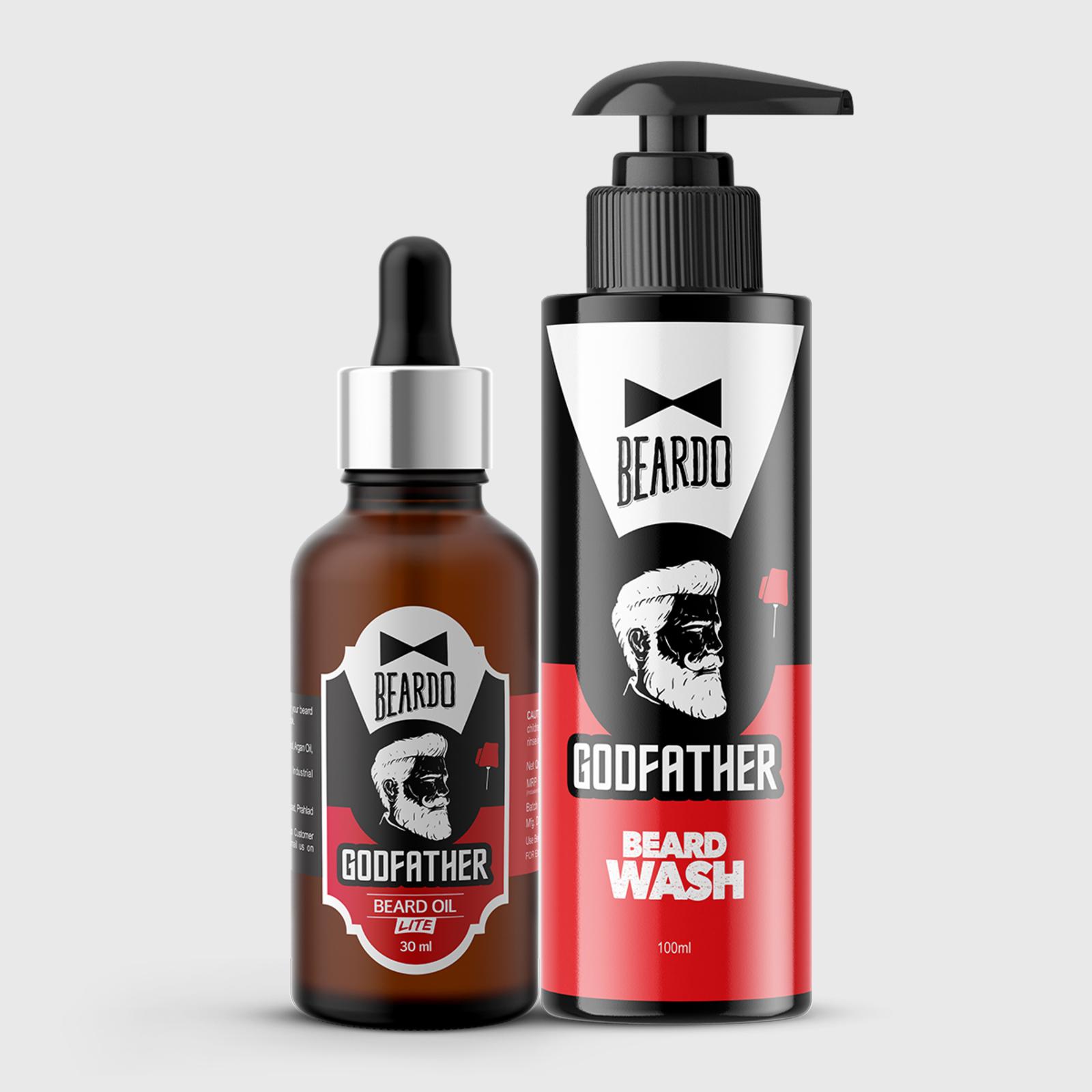 Beardo Godfather Combo (Godfather Oil 30ml, Godfather Wash 100ml)