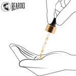 How to Use Beardo Gold Oil – Pour beard oil in hand