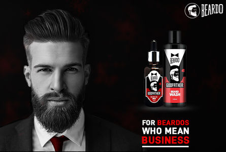 Beardo Godfather Combo uses natural ingredients for beard grooming